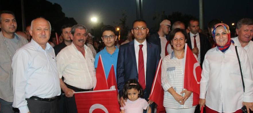 15 Temmuz Demokrasi ve Milli Birlik Günü Alaşehir'de Coşku İle Kutlandı