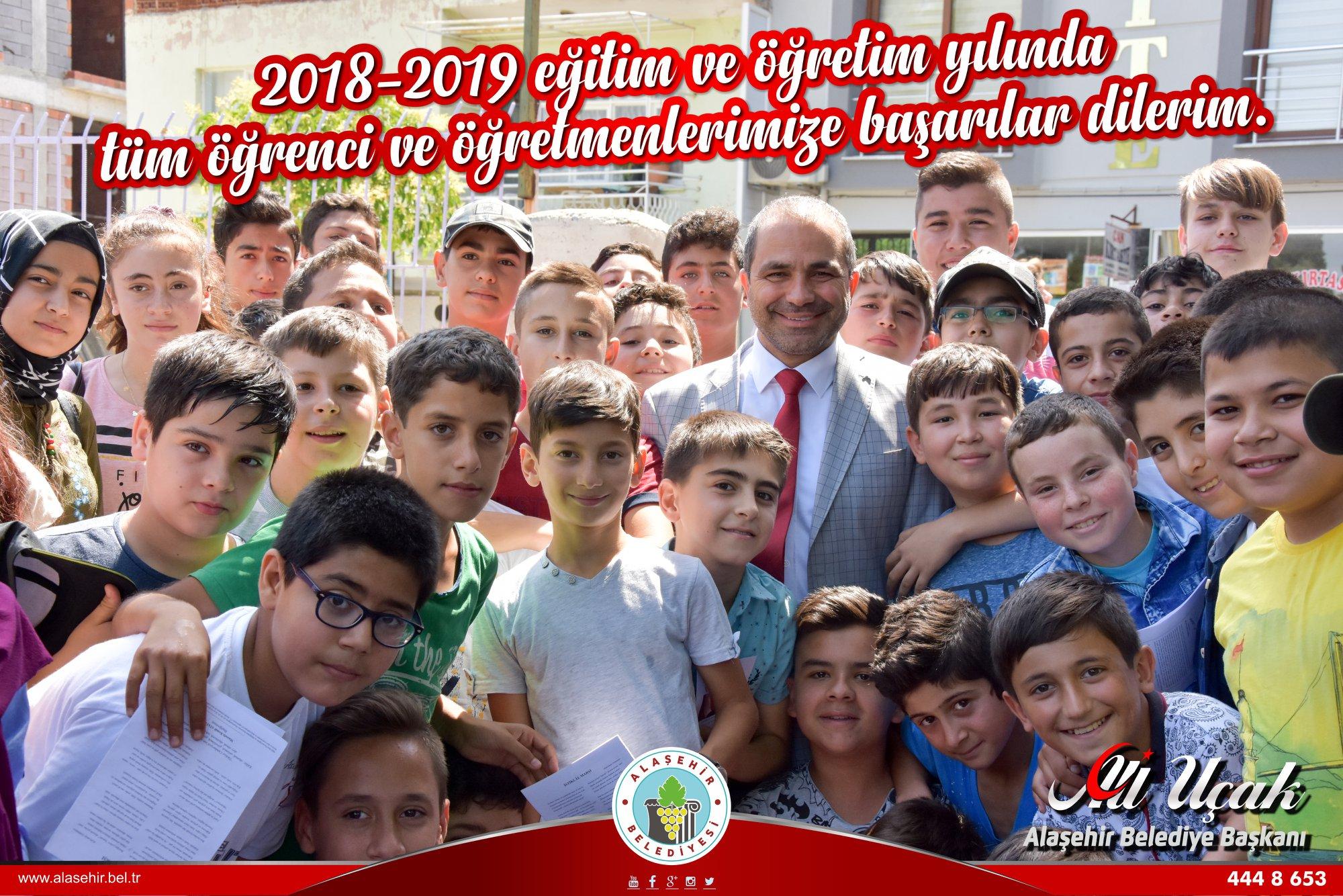 2018-2019 eğitim ve öğretim yılında tüm öğrenci ve öğretmenlerimize başarılar dilerim.