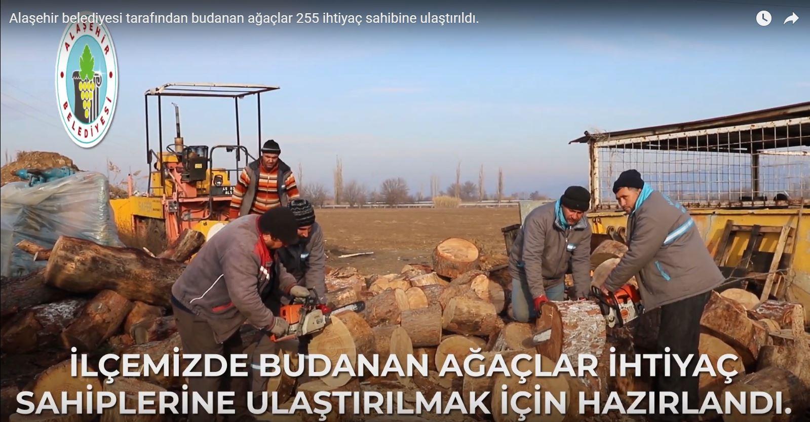 255 İhtiyaç Sahibine Budanan Ağaçlar Ulaştırıldı