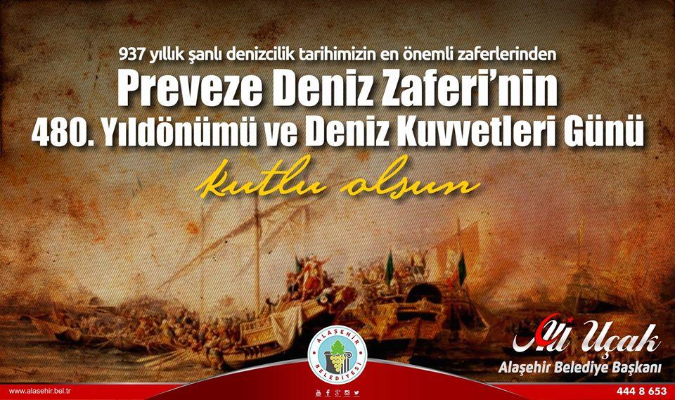 937 yıllık şanlı denizcilik tarihimizin en önemli zaferlerinden, Preveze Deniz Zaferi'nin 480. Yıldönümü ve Deniz Kuvvetleri Günü kutlu olsun.