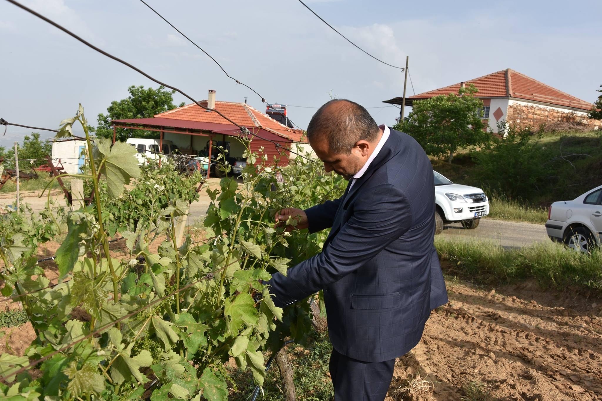 Başkan Uçak, Afet bölgelerinde incelemeler de bulundu.