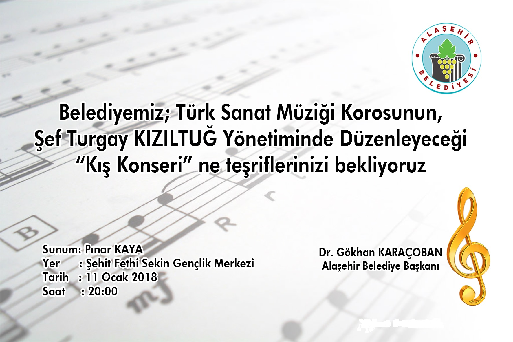 Alaşehir Belediyesi Türk Sanat Müziği Konseri