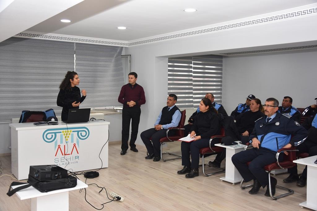 Alaşehir Belediyesi Zabıta Müdürlüğüne Uyuşturucu İle Mücadele Eğitimi