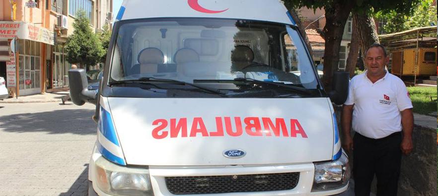 Alaşehir Belediyesinden 7 Gün 24 Saat Ücretsiz Hasta Nakil Aracı