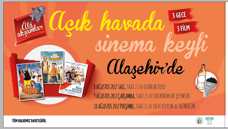 Alaşehir'de 3 Gece Açık Hava Sineması Keyfi