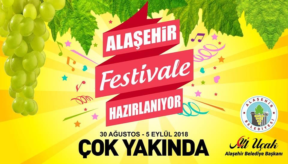 ALAŞEHİR'DE SÜRPRIZLERLE DOLU BÜYÜK FESTIVALE HAZIR OLUN!