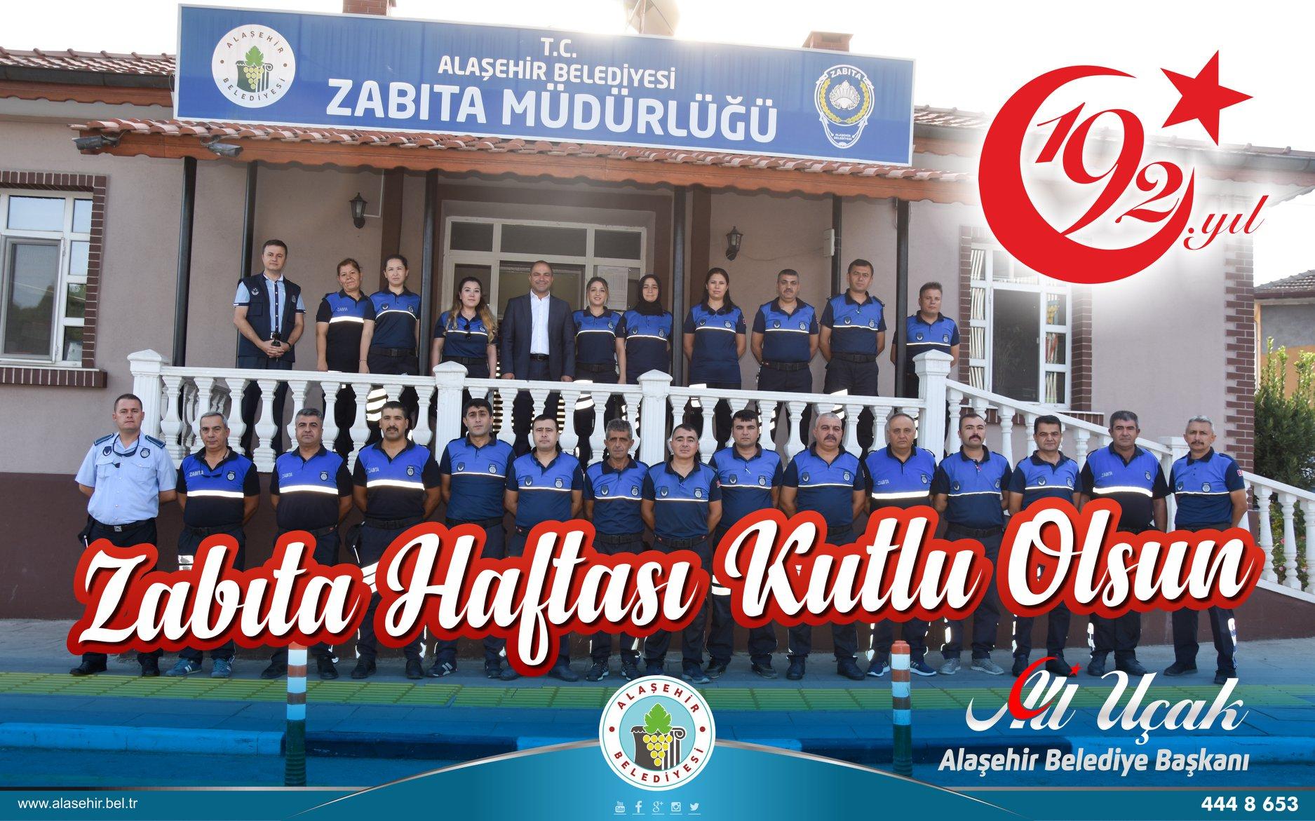 Alaşehir halkının sağlığı, huzuru ve güveni için Belediye Zabıta 7/24 görev başında!
