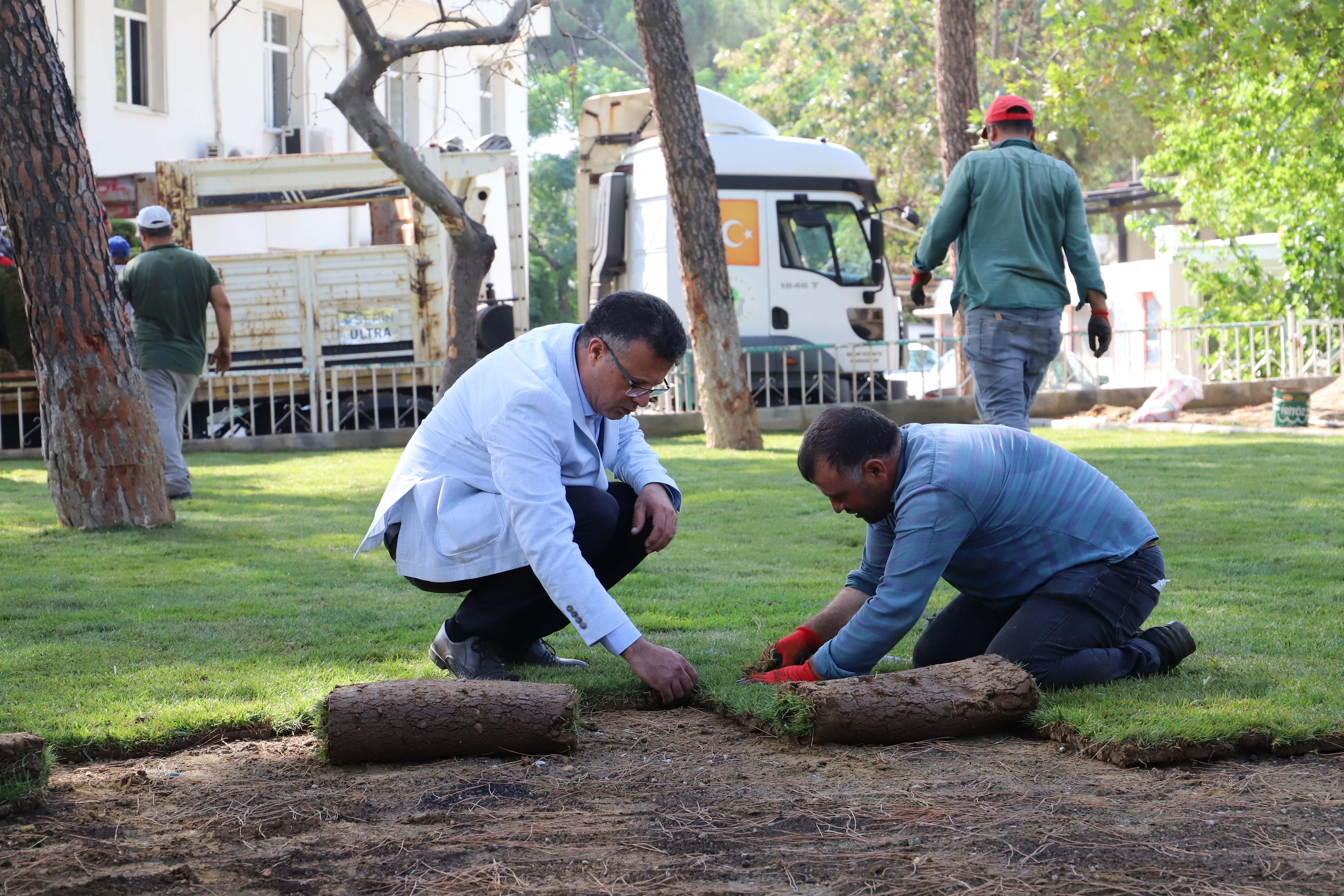 Alaşehir Kongresi Çamlık Parkında Peyzaj Çalışmaları