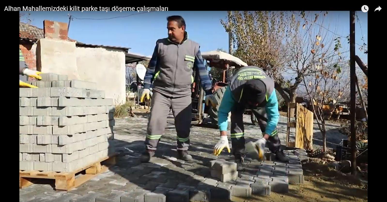 Alhan Mahallemizdeki Kilit Parke Taşı Döşeme Çalışmaları