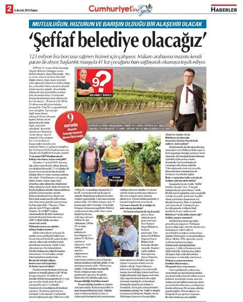 Başkan Ahmet Öküzcüoğlu 9 Soruda Yanıtlıyor