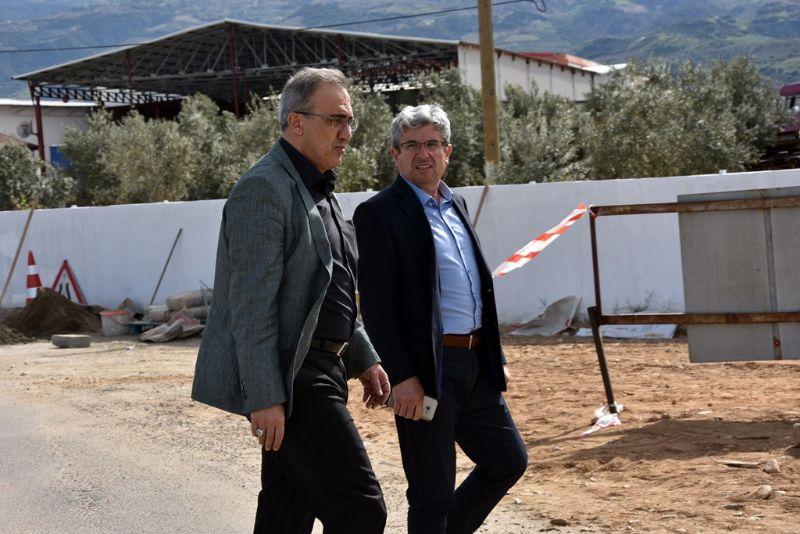 Başkan  Karaçoban Yerinde İnceledi Yol Çalışması Başladı