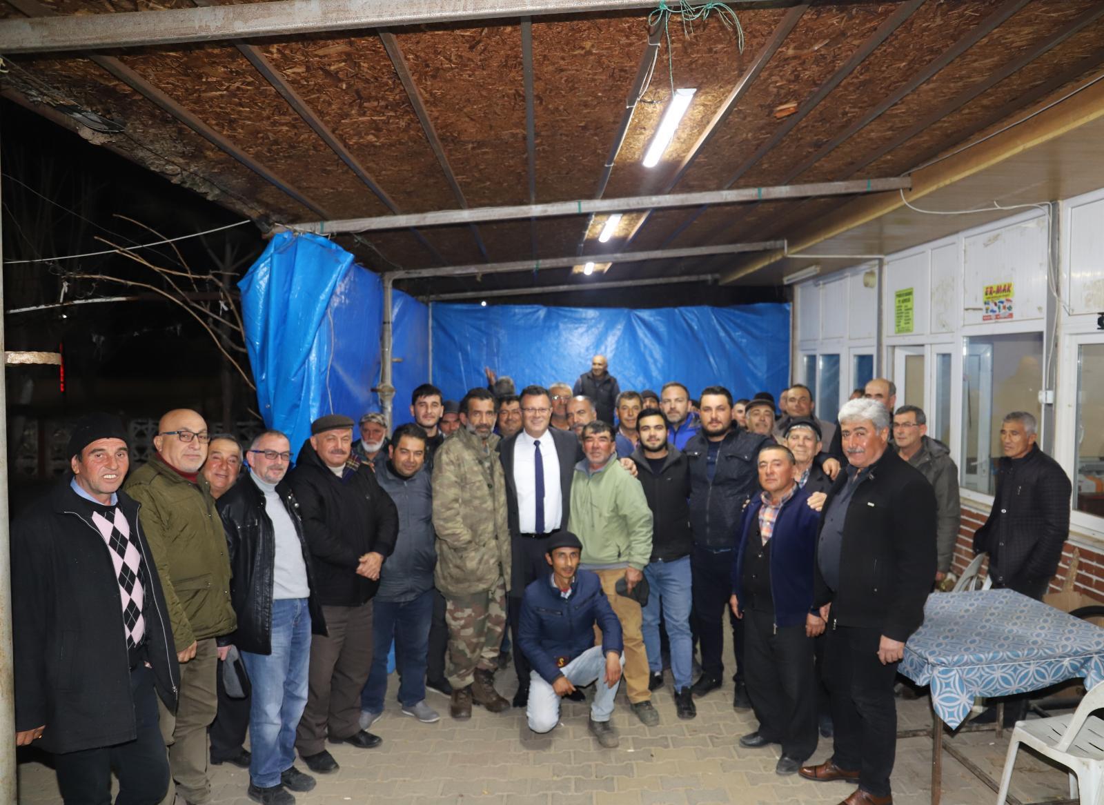 Başkan Öküzcüoğlu'ndan Piyadeler Mahalle Ziyareti