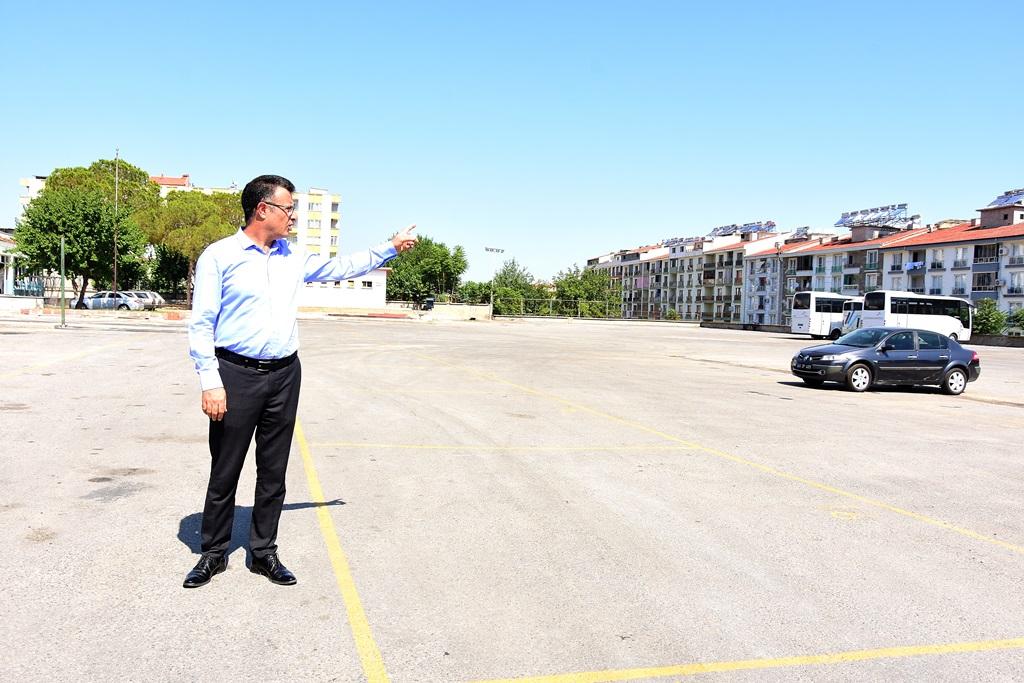 Başkan Öküzcüoğlu'ndan Yeni Garaj Alanına Ziyaret