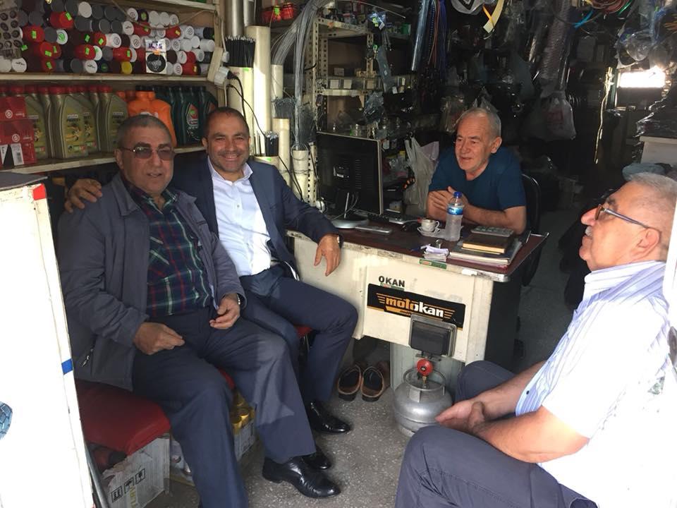 Başkanımız Ali Uçak halk ile iç içe olmak adına esnaf ziyaretlerine başladı