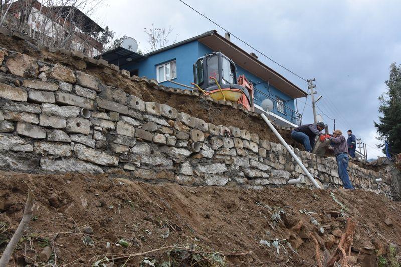 Esentepe Mahallemizde İstinat Duvarı