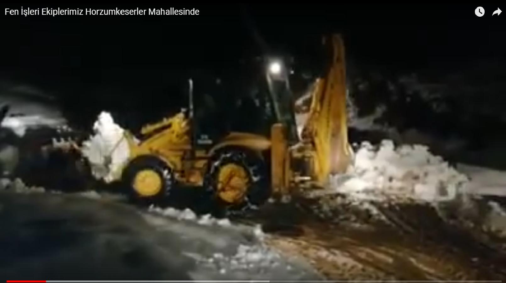 Fen İşleri Ekiplerimiz Karla Mücadeleye Devam Ediyor