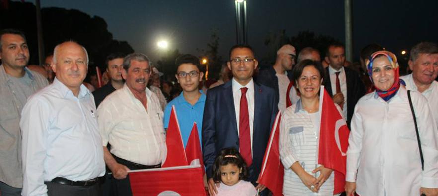 İlçemizde 15 Temmuz Demokrasi Zaferi Şehitleri Anma Etkinlikleri Devam Ediyor