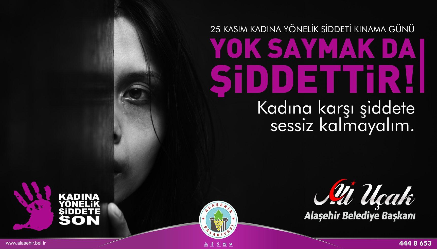 Kadına karşı şiddete sessiz kalmayalım!