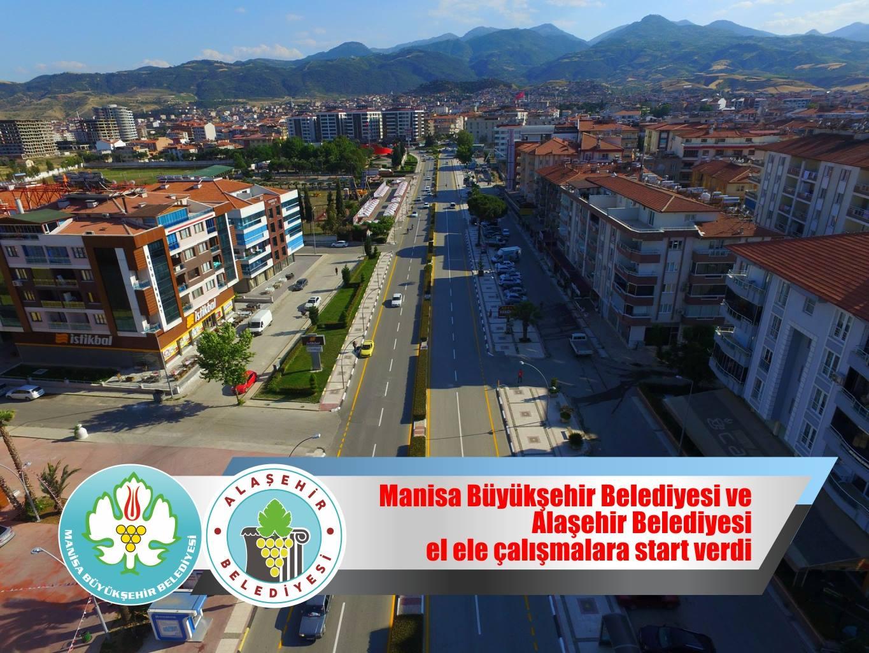 Manisa Büyükşehir Belediyesi ve Alaşehir Belediyesi El Ele Çalışmalarına Start Verdi