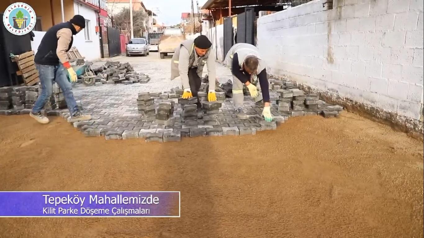 Ekiplerimiz Tepeköy Mahallemizde kilit parke döşeme çalışmalarına başladı.