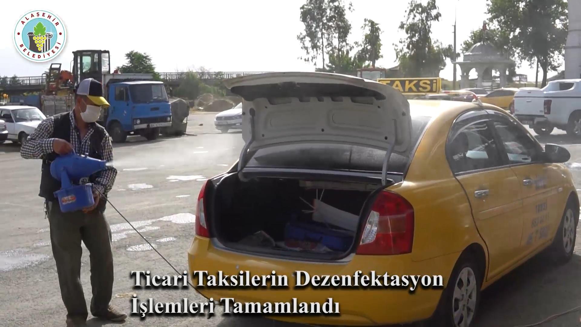 Taksilerin Dezenfekte İşlemleri Tamamlandı