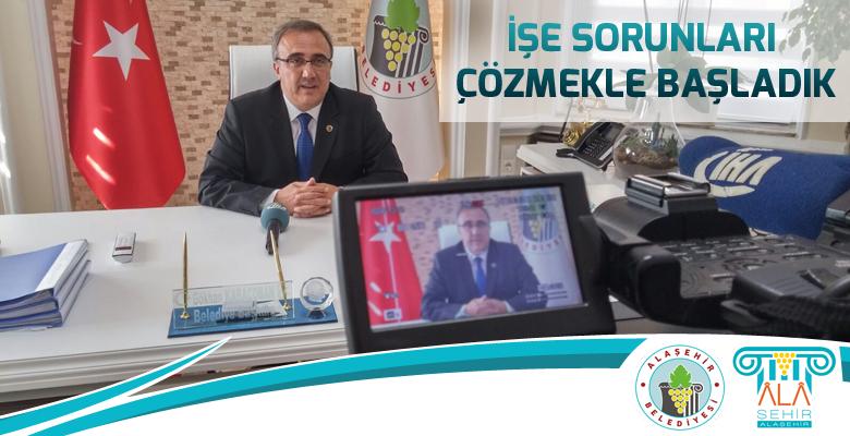 Alaşehir Belediye Başkanı Dr. Gökhan Karaçoban İHA (İhlas Haber Ajansı) temsilcileri ile